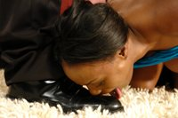 Jada Fire is humiliated as she is tied and fucked.