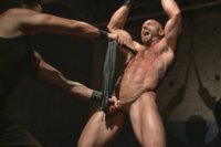 Bodybuilder Tatum gets beaten to the extreme and made to cum