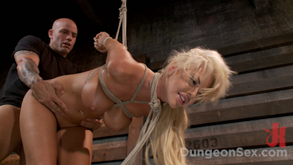 Courtney taylor wants to be fuck into submission. Smoking hot blonde is put in strict bondage make love hard.