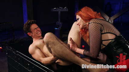 The maitresse milks virgin prostate and punishes dripping penish. Maitresse uses her legendary prostrate-milking talents to steal the cumshot from this eager booty slut after make love him with the biggest strap-on at Kink!