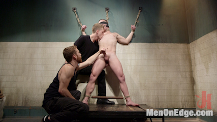Hot captive with a 10 inch dick. Sebastian and Branden edge a hot captive with a 10 inch cock