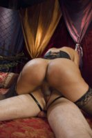 Hot, passionate fucking from the Queen of Queens, Yasmin Lee who nails a sexy guy so far up his ass, her cock can be seen in between his tonsils!