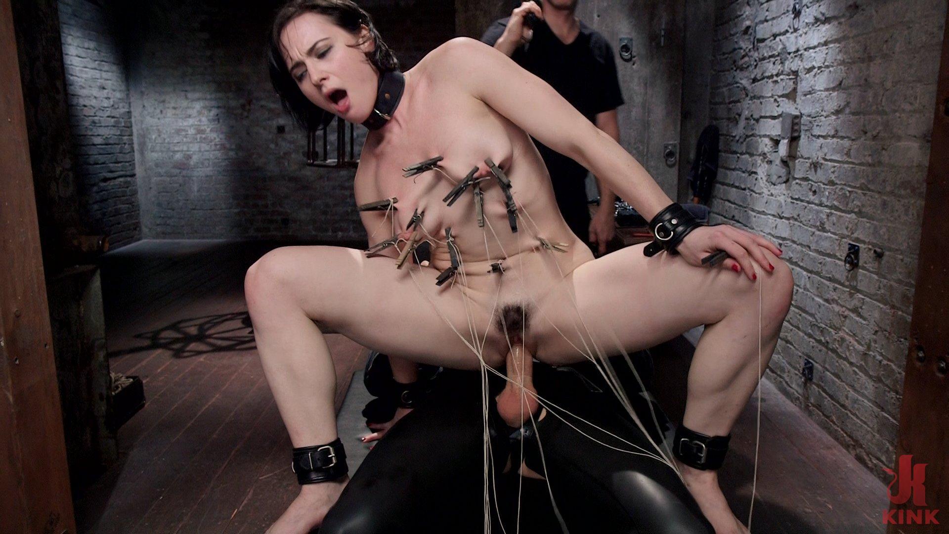 Sexy Brunette Bondage Training