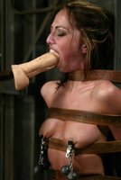 Veronica Jett in double binds fucked mercilessly by a machine