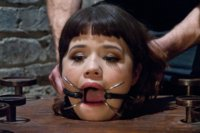 Yhivi gets tied up, sucks cock, gets fucked and loves it.