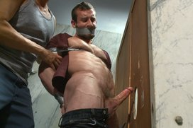 Edging-a-hot-cop-in-a-public-restroom