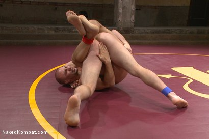 Teammates Scott Harbor and Eli Hunter duke it out on the mat to determine who's ass gets fucked