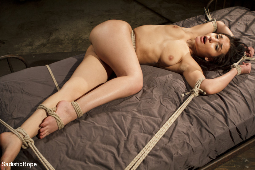 Taking one for the team. Gabriella is a petite little slut. She's all natural with an insatiable craving for torture and bondage. She is put in precarious bondage positions that leave her totally helpless to the desires of The Pope.