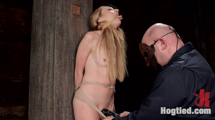 Lusty blonde with little boobs manhandled. Excited Blonde with Little tits Objectified, bound, manhandles, break into by heavy burly guy