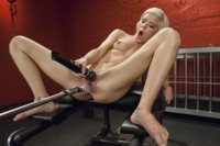 Hot petit blonde cums from machine fucking and squirts for the first time in an epic, almost funny candid orgasm moment!
