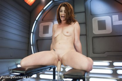 Great reactions, great orgasms for our sexy local red head, Cici Rhodes who warms up with alien dicks & then goes right for machine gold, cumming loud