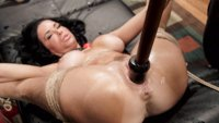 Nympho Anal MILF Veronica Avluv in tight bondage for double penetration squirting orgasms