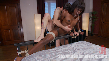 Yes master  ebony boss bitch gets the tables turned. Ana Foxxx gets dominated into submission with an amazing interracial pounding.