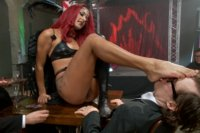 Daisy Ducati lures a room full of men to stuff her air-tight!!