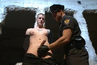 A new punk endures crazy bondage and face fucked by Officer Maguire