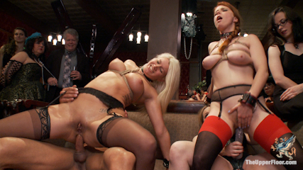Come shot orgy on the upper floor. Come shot orgy of cock service and discipline on the Upper Floor with Aiden Starr, Marco Bandaras and hardcore anus slaves  Penny Pax and Laela Pryce
