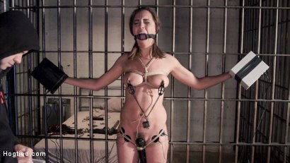 Roxanne gets a hard lesson in bondage and torment before she is fucked and made to cum.