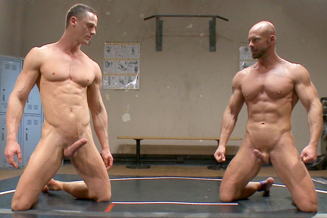 Naked Kombat - Ivan Gregory - Mitch Vaughn - Top Cock: Loser takes a hard machine fucking up his ass! #2