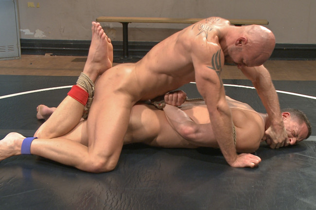Naked Kombat - Ivan Gregory - Mitch Vaughn - Top Cock: Loser takes a hard machine fucking up his ass! #11