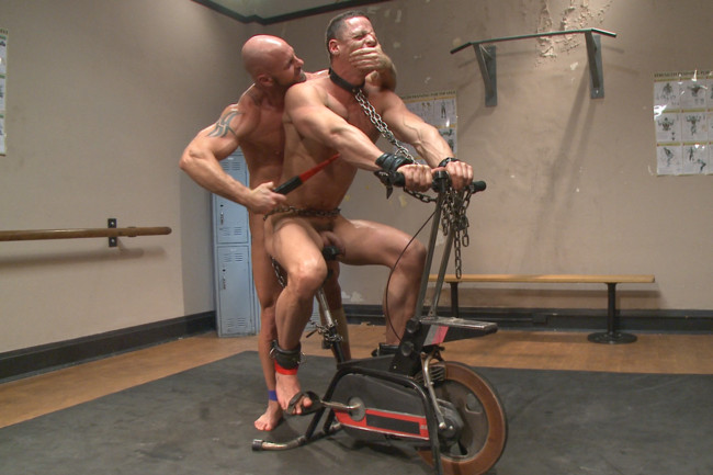 Naked Kombat - Ivan Gregory - Mitch Vaughn - Top Cock: Loser takes a hard machine fucking up his ass! #13