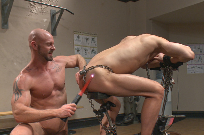 Naked Kombat - Ivan Gregory - Mitch Vaughn - Top Cock: Loser takes a hard machine fucking up his ass! #14