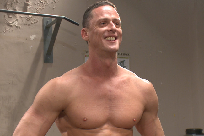 Naked Kombat - Ivan Gregory - Mitch Vaughn - Top Cock: Loser takes a hard machine fucking up his ass! #15
