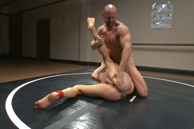 Naked Kombat - Ivan Gregory - Mitch Vaughn - Top Cock: Loser takes a hard machine fucking up his ass! #5