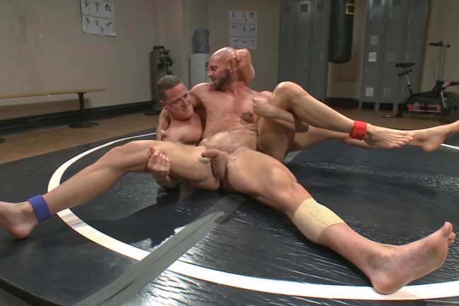Naked Kombat - Ivan Gregory - Mitch Vaughn - Top Cock: Loser takes a hard machine fucking up his ass! #6