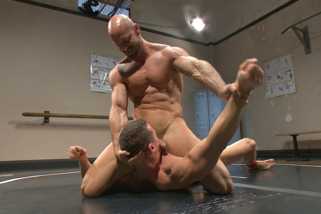 Naked Kombat - Ivan Gregory - Mitch Vaughn - Top Cock: Loser takes a hard machine fucking up his ass! #7