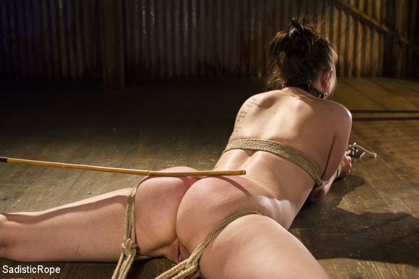 Bring on the pain. Katharine begins perched atop the wooden pony with all of her weight resting on her cunt. Her legs are tied down to increase that pressure and her arms bound to prevent any analistance in the suffering. She is flogged and torture before being made to cum the manalive way.Next she is stretched out on her back with her legs spread wide. The rope bites into her skin as she tries to escape. The impact continues with more flogging and other implements. Again she is made to cum.In the third scene she is suspended in a hogtie, and the torture takes a turn for the worse. Electricity and pegging is on the menu. After the torture, she is make love into several more screaming orgasms.We finish the day with an extreme predicament tie that has our pain slut completely immobilized. She gets her favorite type of torture, via the cane. The strikes are precise and painful. An anal hook is added and tied to her head to complete the agonizing predicament.