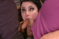 She's fucked in every hole by 2 giant cocks and covered in cum while Mona Wales and Ella Nova help get her off.