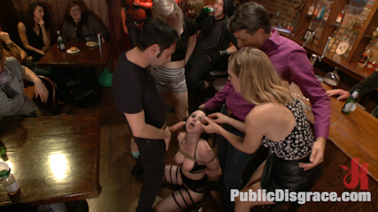 Slutty Veruca Publicly Shamed and Fucked Hard in Crowded Bar