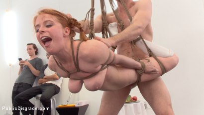 Penny Pax gets her red apple busted in public art class. Corporal, rope bondage, fucked in every hole. Pencil me in for next week red!
