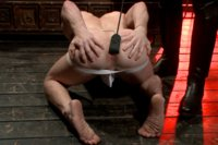 Slave #153 is a willing bootblack slave in the training of Mr Ramzi -- gagging on his cock, receiving a brutal flogging and a deep fucking.