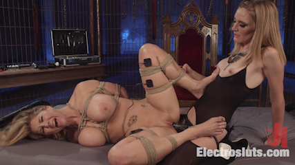 Carissa Montgomery Shocked, Topped and Electrofucked by Mona Wales