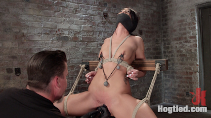 Sabrina banks used and abused in hardcore bondage. Sabrina Banks slapped, zapped, fucked, flogged, and suspended with squirting orgasms.