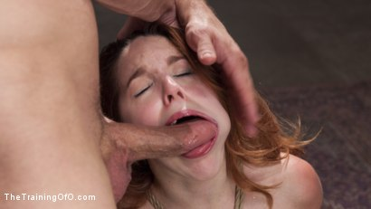 Gorgeous red head pain slut yearns to understand her need for sexual torment. Inverted blowjob, tied up and fucked, hard rope suspension nipple clamps