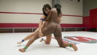 Stakes are high on Ultimate Surrender Erotic Wrestling. If you lose, you must offer up a hole. Loser take HUGE ANAL.