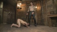 Slave #401 graciously accepts his place in the house, firmly under the boot and chains of Christian Wilde.