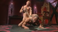Tormented and fucked in bondage, muscled stud Micah Brandt learns to embrace the pain