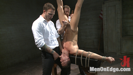 Muscled jewel thief has his uncut cock edged with the mouth of anubis. A captured jewel thief is bound, edged and fucked.