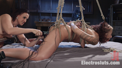Electric first date. A make-out session at a bar turns into a hot lesbian electro fucking! vagina licking, electro dildo fucking, shocking pain & multiple electro orgasms!
