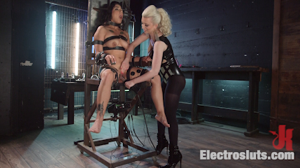Electro Cherry Popped: New and nervous electroslut turned out!