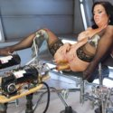 Big-titted-squirting-anal-milf Veronica Avluv challenges Fucking Machines to a no-holds-barred fuck off and wins