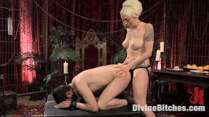 Cuckolding classics: tied up husband has to blow another man and watch him fucking his woman
