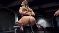 Big ass all natural anal slave girl Abella Danger begs for cock in her ass and the sting of discipline. Heavy bondage, hard nipple clamps, hard anal.