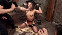 Abella Danger anal slave training. Slave fucked hard in the ass with tight nipple clamps and inescapable ropes, hard core fucking bondage.