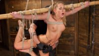 Brutal bondage, grueling torment, and screaming orgasms make Carter Cruise a happy slut!