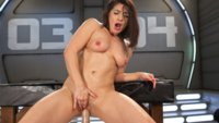 The gorgeous, Lea Lexis is back and getting fucked in her pussy and fisted in her ass by our machines!