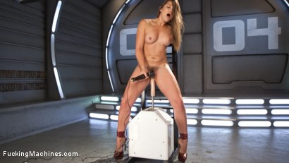 Dani is fucked so hard she jumps away from the machine, then right back on it for more!!